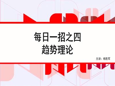 1月18日 每日一招(中英)第四集:趋势理论
