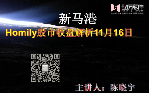 Homily 新马港股市收盘解析11月16日