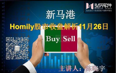 Homily 新马港股市收盘解析11月26日
