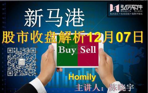 Homily 新马港股市收盘解析12月07日