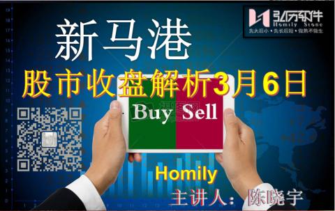 Homily 新马港股市收盘解析3月06日
