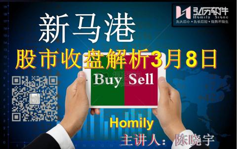 Homily 新马港股市收盘解析3月08日