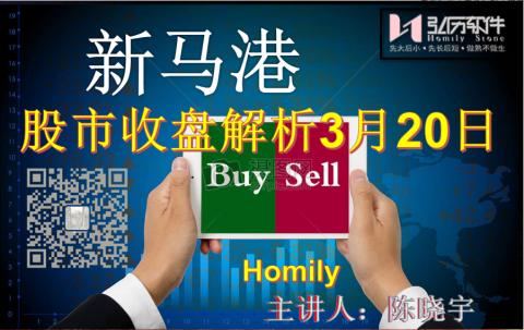 Homily 新马港股市收盘解析3月20日