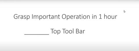 31st Jan. 21-Grasp the software Part3: Top toolbar-Apple