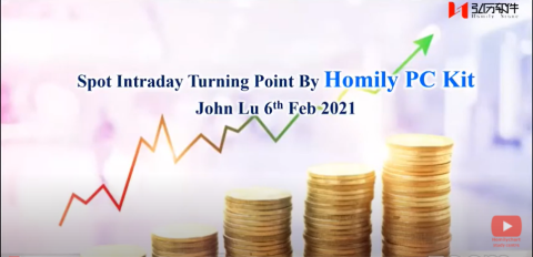 6th Feb 21- Spot intraday turning point by PC Kit-John