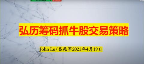 弘历筹码抓牛股交易策略吕兆军2021年4月19日